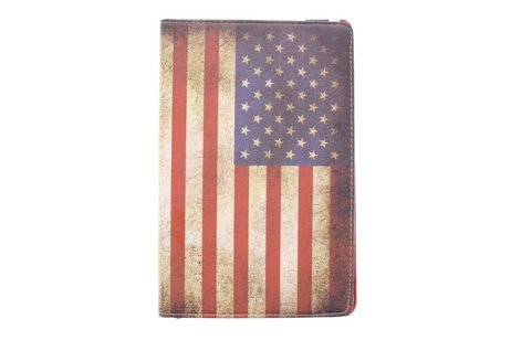 Samsung Galaxy Tab E 9.6 hoesje - 360° draaibare Amerikaanse vlag