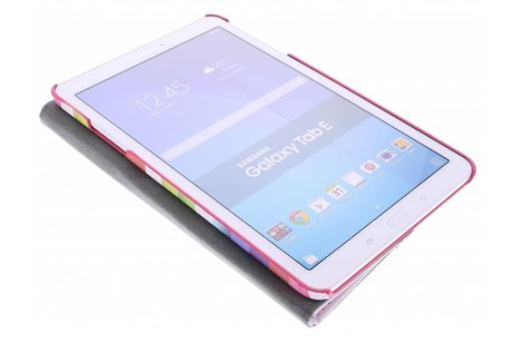 Samsung Galaxy Tab E 9.6 hoesje - 360° draaibare strepen design