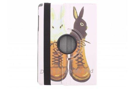 Samsung Galaxy Tab A 9.7 hoesje - 360° draaibare konijnen design