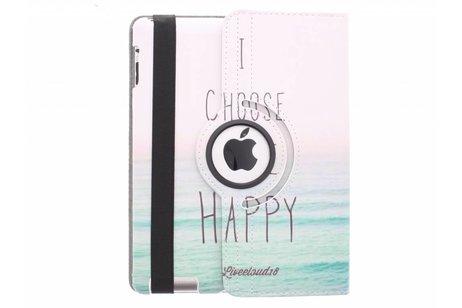 360º draaibare happy design tablethoes voor de iPad 2 / 3 / 4