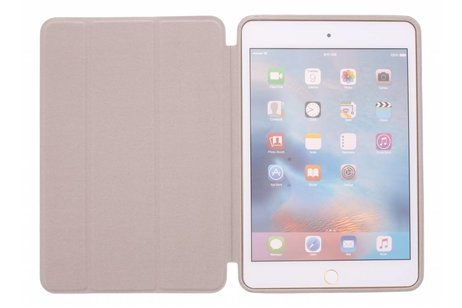 iPad Mini 4 hoesje - Beige luxe Book Cover