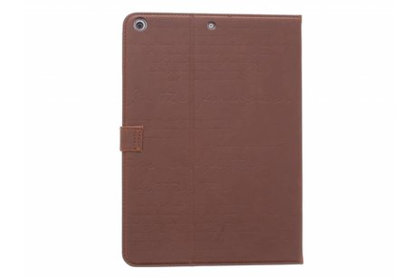 iPad Air hoesje - Bruine book cover met