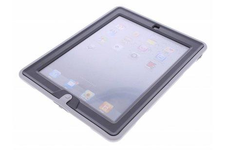 Grijze defender tablethoes met strap voor de iPad 2 / 3 / 4