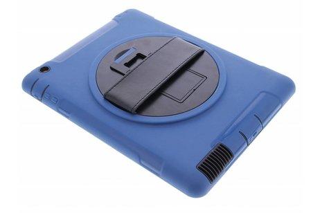Blauwe defender tablethoes met strap voor de iPad 2 / 3 / 4