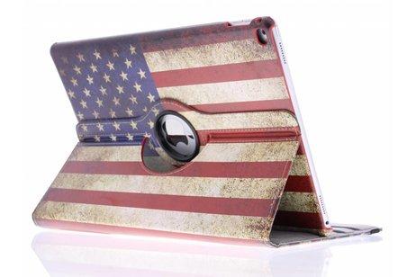 iPad Pro 12.9 hoesje - 360º draaibare Amerikaanse vlag