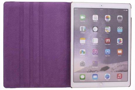 iPad Pro 12.9 hoesje - Paarse 360º draaibare tablethoes