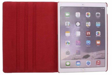 iPad Pro 12.9 hoesje - Rode 360º draaibare tablethoes