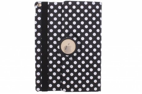 iPad Pro 12.9 hoesje - Zwarte 360º draaibare polka