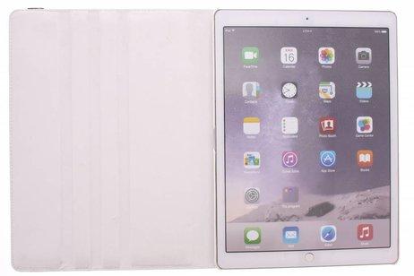iPad Pro 12.9 hoesje - Witte 360º draaibare krokodil