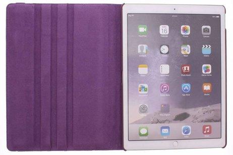 iPad Pro 12.9 hoesje - Paarse 360º draaibare krokodil