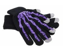 Paars skelet touchscreen handschoenen
