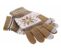 Lichtbruin Noorse touchscreen handschoenen