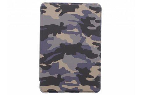 iPad Mini 4 hoesje - Blauwe army defender booktype