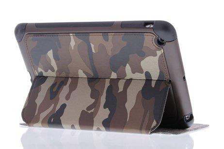 Bruine army defender booktype hoes voor de iPad Mini / 2 / 3