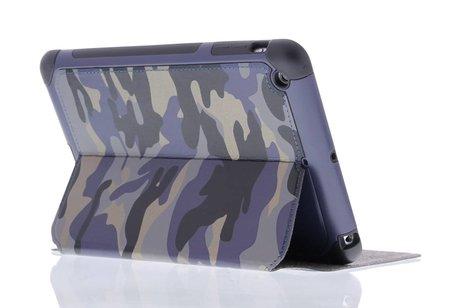 Blauwe army defender booktype hoes voor de iPad Mini / 2 / 3
