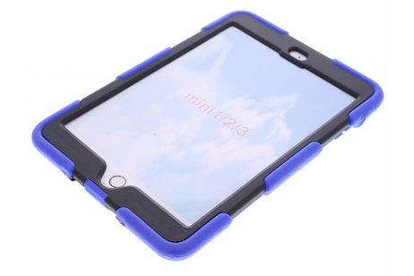 Blauwe extreme protection army case voor de iPad Mini / 2 / 3