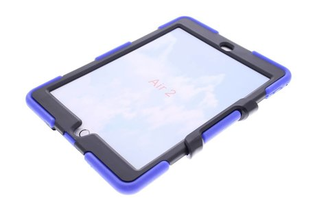 iPad Air 2 hoesje - Blauwe extreme protection army