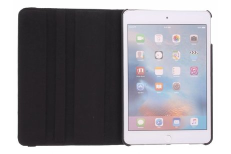 iPad Mini 4 hoesje - Zwarte 360° draaibare tablethoes