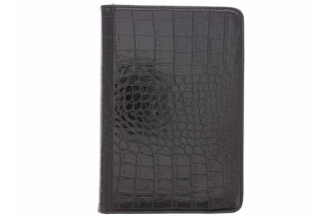 iPad Mini 4 hoesje - Zwarte 360º draaibare krokodil