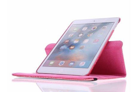 iPad Mini 4 hoesje - Fuchsia 360º draaibare krokodil