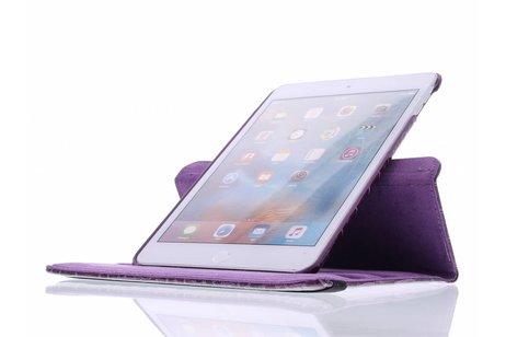 iPad Mini 4 hoesje - Paars 360º draaibare krokodil