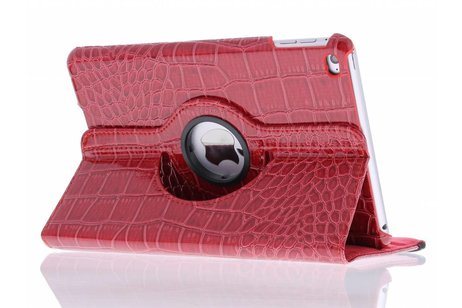 iPad Mini 4 hoesje - Rood 360º draaibare krokodil