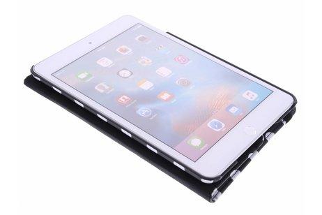 iPad Mini 4 hoesje - Zwarte 360° draaibare polka