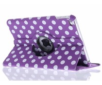 360° draaibare polka dot tablethoes iPad Mini 4