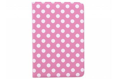 iPad Mini 4 hoesje - Roze 360° draaibare polka