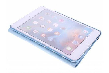 iPad Mini 4 hoesje - Turquoise 360° draaibare polka