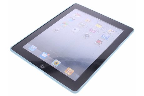 Blauwe lederen TPU tablethoes voor de iPad 2 / 3 / 4