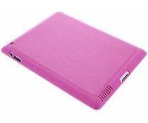 Fuchsia metallic lederen TPU tablethoes iPad 2 / 3 / 4