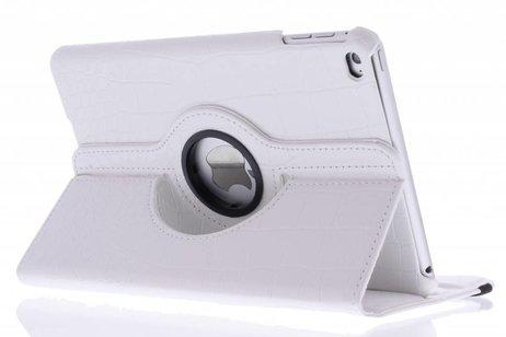 iPad Mini 4 hoesje - Wit 360º draaibare krokodil
