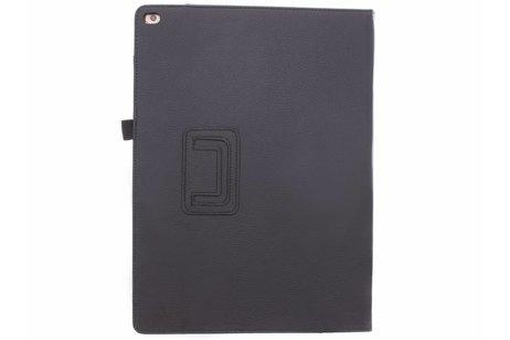 iPad Pro 12.9 hoesje - Zwarte effen tablethoes voor
