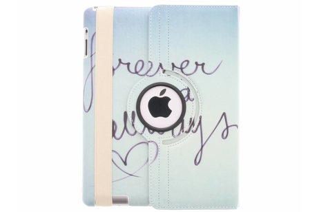 360º draaibare forever and away design tablethoes voor de iPad 2 / 3 / 4