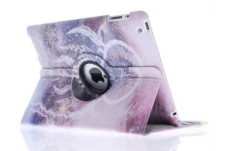 360º draaibare paars dromenvanger design tablethoes voor de iPad 2 / 3 / 4