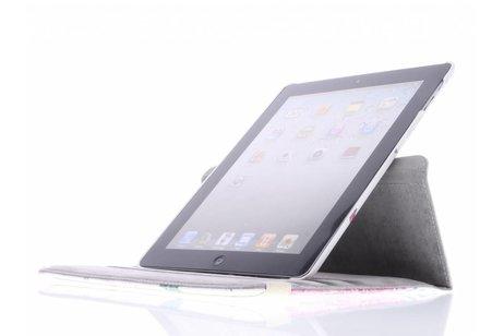 360º draaibare roosjes design tablethoes voor de iPad 2 / 3 / 4