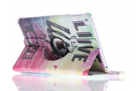 iPad Mini 4 hoesje - 360° draaibare live the