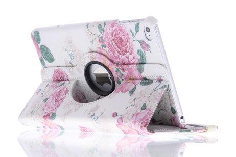 iPad Mini 4 hoesje - 360° draaibare roosjes design