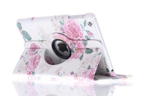 360° draaibare roosjes design tablethoes voor de iPad Mini / 2 / 3