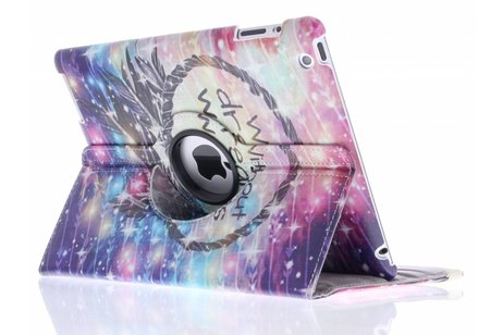 360° draaibare without dreams design tablethoes voor de iPad 2 / 3 / 4