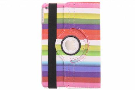 iPad Mini 4 hoesje - 360º draaibare strepen design