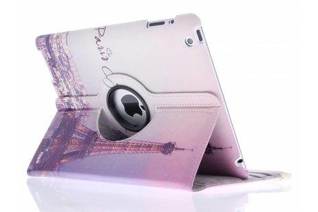 360° draaibare Parijs design tablethoes voor de iPad 2 / 3 / 4