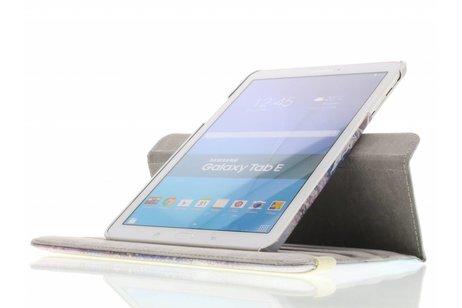 Samsung Galaxy Tab E 9.6 hoesje - 360° draaibare paars dromenvanger