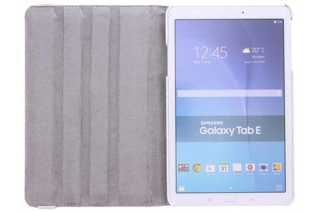 Samsung Galaxy Tab E 9.6 hoesje - 360° draaibare bloesem design