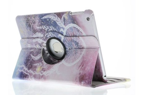 iPad Air hoesje - 360° draaibare paars dromenvanger