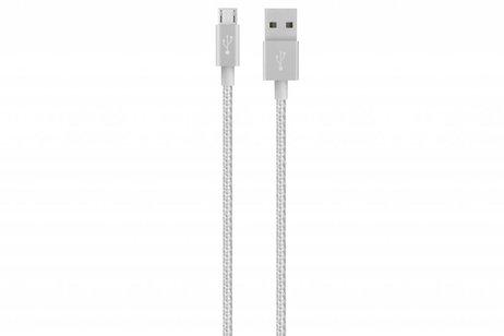 Belkin Metallic Micro-USB naar USB-kabel 1,2 meter - Zilver