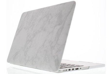 MacBook Pro 15.4 inch hoesje - Witte marmer design hardshell