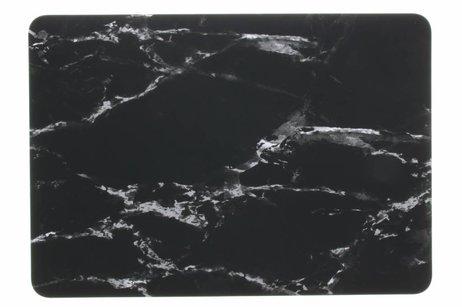 MacBook Pro 15.4 inch hoesje - Zwarte marmer design hardshell