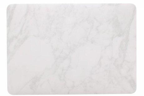 MacBook Pro 13.3 inch hoesje - Witte marmer design hardshell